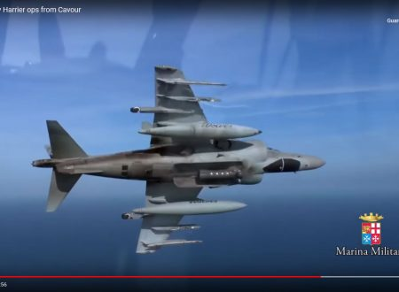 Italian Navy Harrier ops from Cavour