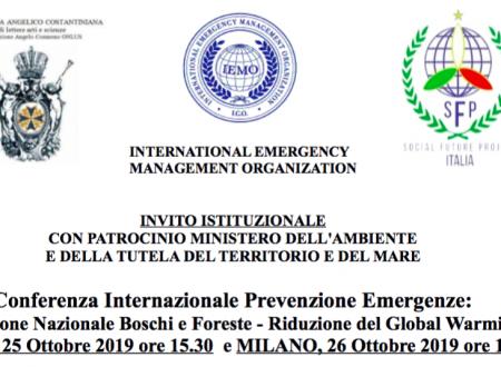 Conferenza Internazionale Prevenzione Emergenze: Protezione Nazionale Boschi e Foreste Riduzione del Global Warming