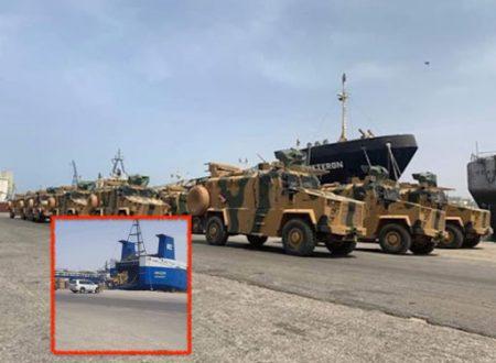 Libia: al Mismari, nave turca carica di mezzi blindati arrivata a Misurata