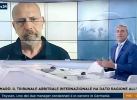 Il mio intervento a Rai News 24 per commentare il caso Marò – 03/07/2020