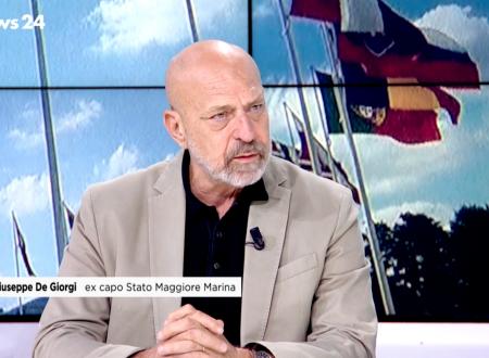 Ammiraglio De Giorgi ospite a RaiNews 24 per parlare di Difesa Europea