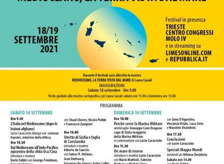 """Ammiraglio De Giorgi interviene come relatore al Festival di Limes """"Medioceano, la Terra vista dal Mare"""""""